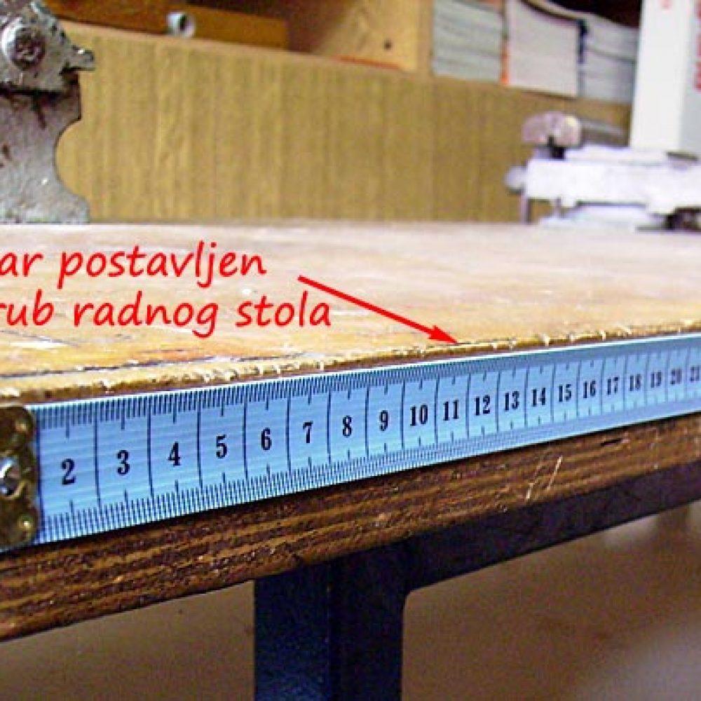 Očitavanje dužina na radnom stolu